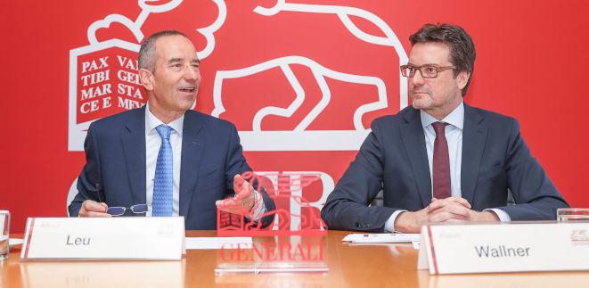 Stellten am Dienstag die 2018er-Zahlen der Generali Österreich vor: CEO Alfred Leu und CFO Klaus Wallner (Bild: Generali/APA-Fotoservice/Tanzer)