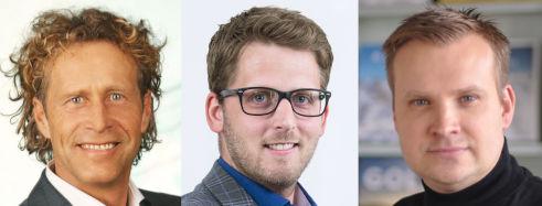 V.l.n.r.: Thomas Brauneder, Michael Taferner und Dusan Urban (Bilder: Merkur)