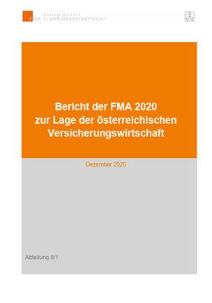 Der neue Bericht zur Lage der Versicherungswirtschaft (Cover; Quelle:FMA)