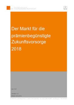 FMA veröffentlichte PZV-Marktanalyse zum Jahr 2018 (Cover; Quelle: FMA)