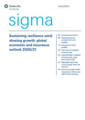 Der neue Sigma-Bericht 6/2019 stellt eine Prognose für 2020 und 2021 (Cover; Quelle: Swiss Re)