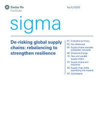 Neuer Sigma-Bericht 6/2020 befasst sich mit Lieferketten (Cover; Quelle: Swiss Re Institute)