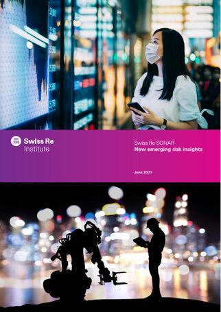 Neue Sonar-Analys zu möglichen künftigen Risiken (Cover; Quelle: Swiss Re)