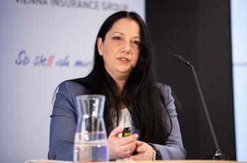 TQS-Geschäftsführerin Angelika Sonnek stellte die Ergebnisse vor (Bild: Donau/APA-Fotoservice/Juhasz).