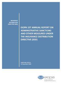 Eiopa-Bericht zum IDD-Sanktionsgeschehen 2018 und 2019 (Quelle: Eiopa)