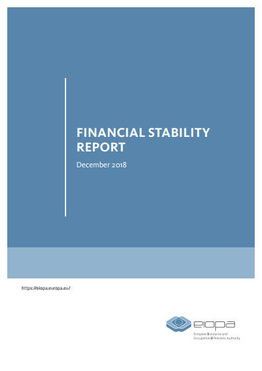 Financial Stability Report December 2018 (Cover; Quelle: Eiopa)