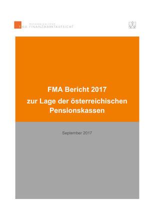 FMA-Bericht zur Lage der Pensionskassen (Titelblatt)