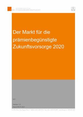 FMA-Bericht zum Zukunftsvorsorgemarkt 2020 (Cover; Quelle: FMA)