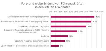 Wie sich Führungskräfte weiterbilden (Grafik: Hernstein)