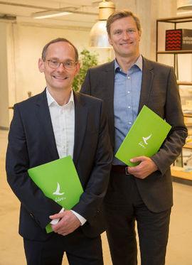 Klaus Math, Hermann Schrögenauer stellten am Dienstag in Wien Livv.at vor (Foto: Jürgen Hammerschmied)