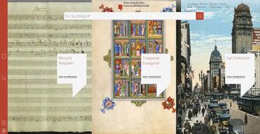 ÖNB Digital, der neue Online-Zugang zu Dokumenten der Nationalbibliothek (Screenshot; Quelle: Österreichische Nationalbibliothek)
