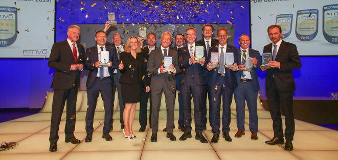 Die Gewinner des Recommender 2019 (Bild: FMVÖ/Tanzer)