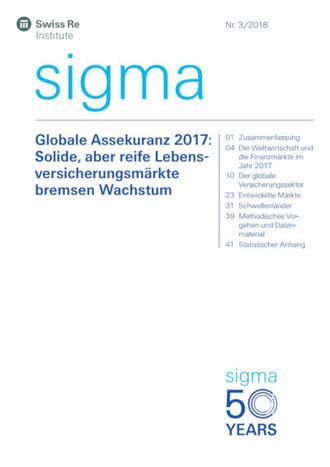 Neue Sigma-Studie zur Prämienentwicklung (Cover; Quelle: Swiss Re)