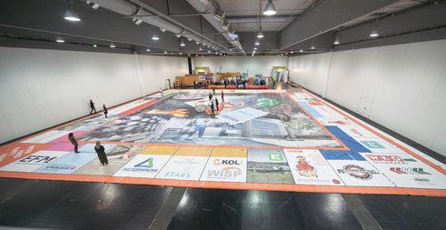 Das Spielfeld des Weltrekord-DKT (Bild: Junge Wirtschaft Steiermark)