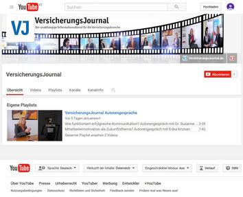 Das VersicherungsJournal ist jetzt auch auf Youtube.