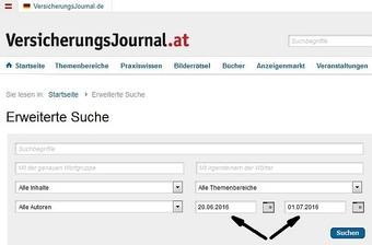Erweiterte Suche (Screenshot)