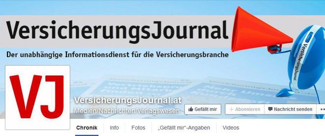 Screenshot von der Facebook-Chronikseite des VersicherungsJournals